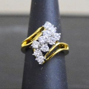 14K Gold Lab Diamond Engagement wedding Ring